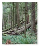Forest And Ferns Fleece Blanket