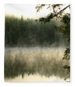 Forest And Fog Fleece Blanket