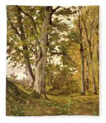 Forest At Fontainebleau Fleece Blanket