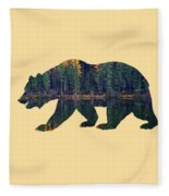 Forest Bear Fleece Blanket