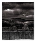 Forest Behind The Wall Fleece Blanket