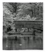 Forest Bridge Fleece Blanket