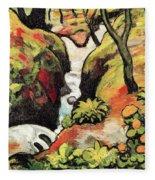 Forest Brook By August Macke Fleece Blanket
