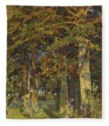 Forest Clearing Fleece Blanket