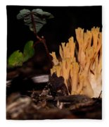 Forest Coral Fungi Fleece Blanket