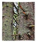 Forest Corrosion Bark Fleece Blanket
