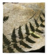 Forest Fern Shadows Fleece Blanket