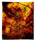 Forest Fire Fleece Blanket