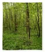 Forest Floor Fleece Blanket