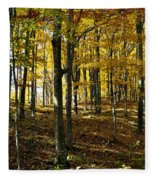 Forest Floor One Fleece Blanket
