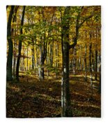 Forest Floor Two Fleece Blanket