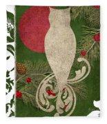 Forest Holiday Christmas Owl Fleece Blanket