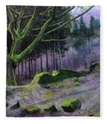 Forest In Wales Fleece Blanket