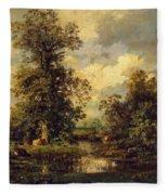 Forest Landscape 1840 Fleece Blanket