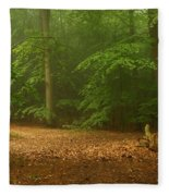 Forest Light 4 Fleece Blanket