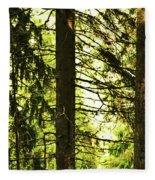 Forest Light Fleece Blanket
