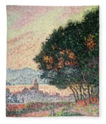 Forest Near St Tropez Fleece Blanket