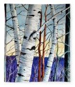 Forest Of Trees Fleece Blanket