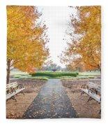 Forest Park Benches Fleece Blanket