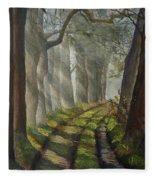 Forest Pathway Fleece Blanket