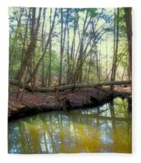 Forest Pool Fleece Blanket