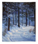Forest Road Fleece Blanket