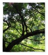 Forest Silhouette Fleece Blanket