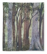 Forest Spring Fleece Blanket