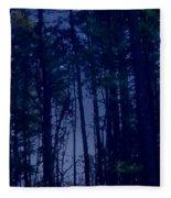 Forest Starlight Fleece Blanket