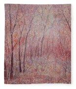 Forest Stillness. Fleece Blanket