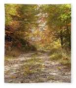 Forest Stone Path Fleece Blanket