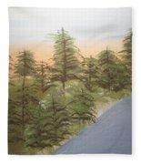 Forest Sunrise Beach Fleece Blanket