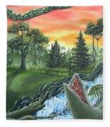 Forest Sunset Cascade Fleece Blanket