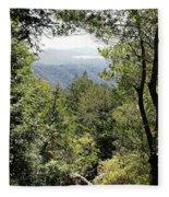 Forest View From Mt Tamalpais Fleece Blanket