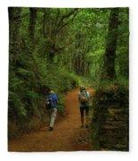 Forest Walkers, El Camino, Spain Fleece Blanket