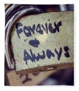 Forever And Always Paris Love Lock Fleece Blanket