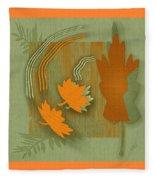 Forever Leaves Fleece Blanket