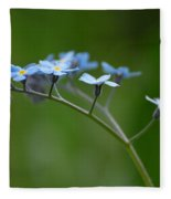 Forget-me-not 2 Fleece Blanket
