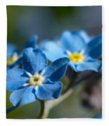 Forget -me-not 3 Fleece Blanket