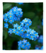 Forget -me-not 5 Fleece Blanket