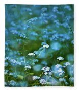 Forget-me-not Flower Patch Fleece Blanket