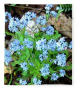 Forget-me-not Fleece Blanket