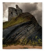 Forgotten Castle In Ballybunion Fleece Blanket