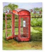 Forgotten Phone Booth Fleece Blanket