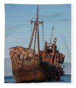 Forgotten Ship Wreck Fleece Blanket