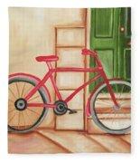 Forlorn Bike Fleece Blanket