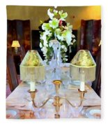 Formal Dining Fleece Blanket
