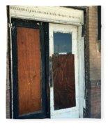 Former Waiting Room Doors Fleece Blanket