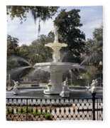 Forsyth Fountain Park Fleece Blanket