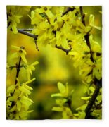 Forsythia At The Hacienda Fleece Blanket